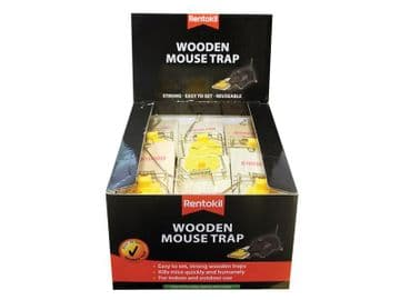Wooden Mouse Trap (Bulk Pack 30)